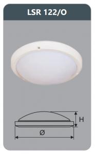 Đèn ốp trần cao cấp 22w LSR122/O