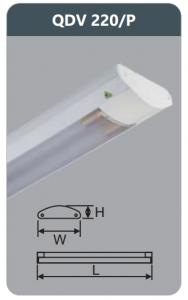 Đèn ốp trần led siêu mỏng 2x9w QDV220/P