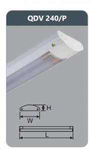 Đèn ốp trần led siêu mỏng 2x18w QDV240/P