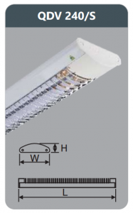 Đèn ốp trần led siêu mỏng 2x18w QDV240/S