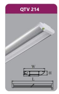 Đèn ốp trần led siêu mỏng 2x14w QTV214