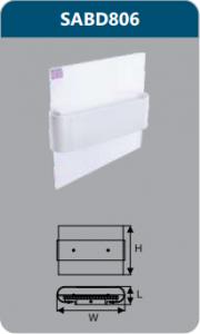 Đèn led chiếu vách 6w SABD806
