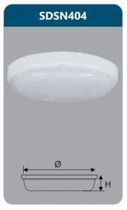 Đèn ốp trần led chống thấm 18w SDSN404