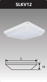 Đèn ốp trần vuông 12w SLKV12/T