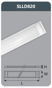 Đèn ốp trần led chụp mica 20w SLLD820