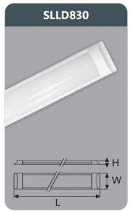Đèn ốp trần led chụp mica 30w SLLD830