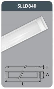 Đèn ốp trần led chụp mica 40w SLLD840