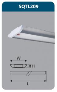 Đèn ốp trần led chụp mica 18w SQTL209