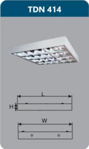 Máng đèn phản quang gắn nổi 4x14w TDN414