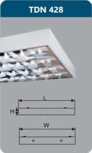 Máng đèn phản quang gắn nổi 4x28w TDN428