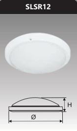 Đèn ốp trần cao cấp 12w SLSR12