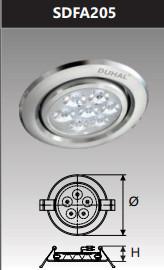Đèn âm trần led chiếu điểm 5w SDFA205