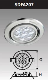 Đèn âm trần led chiếu điểm 7w SDFA207