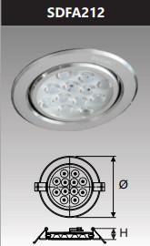 Đèn âm trần led chiếu điểm 12w SDFA212
