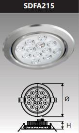Đèn âm trần led chiếu điểm 15w SDFA215