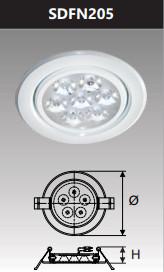 Đèn âm trần led chiếu điểm 5w SDFN205