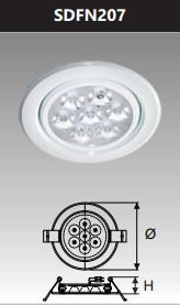 Đèn âm trần led chiếu điểm 7w SDFN207