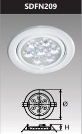 Đèn âm trần led chiếu điểm 9w SDFN209