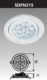 Đèn âm trần led chiếu điểm 15w SDFN215