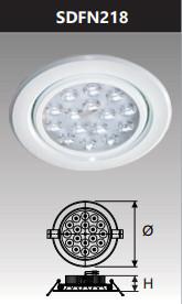 Đèn âm trần led chiếu điểm 18w SDFN218