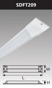 Đèn ốp trần led chụp mica 18w SDFT209