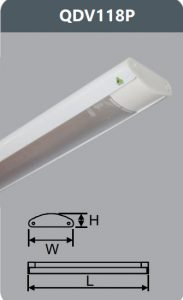 Đèn ốp trần led siêu mỏng 1x18w QDV118/P