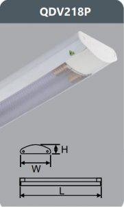 Đèn ốp trần led siêu mỏng 2x18w QDV218/P