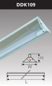 Đèn công nghiệp phản quang 1x9w DDK109