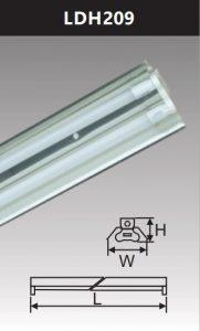 Đèn công nghiệp phản quang 2x9w LDH209