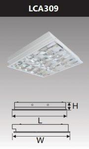 Máng đèn led phản quang âm trần 3x9w LCA309