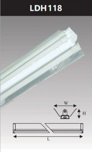 Đèn công nghiệp phản quang 1x18w LDH118