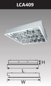 Máng đèn led phản quang âm trần 4x9w LCA409
