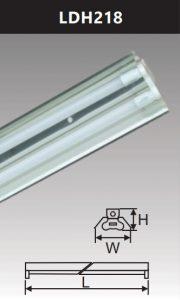 Đèn công nghiệp phản quang 2x18w LDH218
