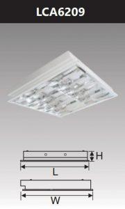 Máng đèn led phản quang âm trần 2x9w LCA6209