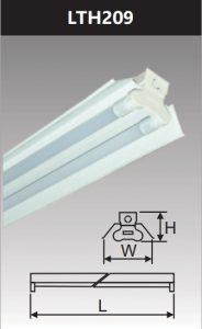 Đèn công nghiệp sơn tĩnh điện2x9w LTH209