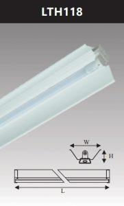 Đèn công nghiệp sơn tĩnh điện1x18w LTH118