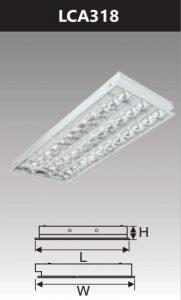Máng đèn led phản quang âm trần 3x18w LCA318