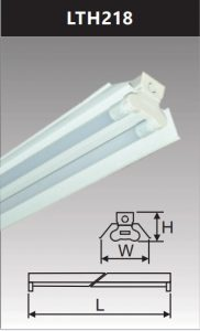 Đèn công nghiệp sơn tĩnh điện2x18w LTH218
