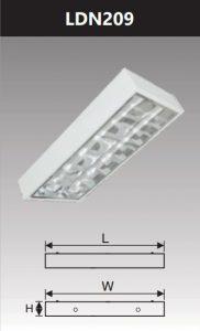 Máng đèn led phản quang gắn nổi 2x9w LDN209