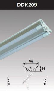 Đèn công nghiệp phản quang 2x9w DDK209