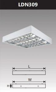 Máng đèn led phản quang gắn nổi 3x9w LDN309