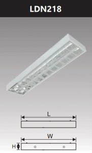 Máng đèn led phản quang gắn nổi 2x18w LDN218