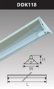 Đèn công nghiệp phản quang 1x18w DDK118