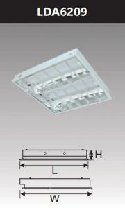 Máng đèn led phản quang âm trần 2x9w LDA6209