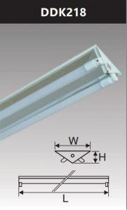 Đèn công nghiệp phản quang 2x18w DDK218