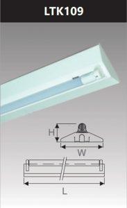 Đèn công nghiệp sơn tĩnh điện1x9w LTK109