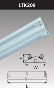 Đèn công nghiệp sơn tĩnh điện2x9w LTK209
