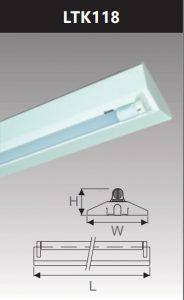 Đèn công nghiệp sơn tĩnh điện1x18w LTK118
