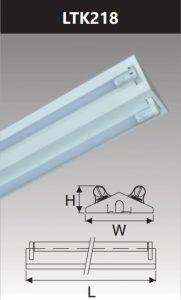 Đèn công nghiệp sơn tĩnh điện2x18w LTK218