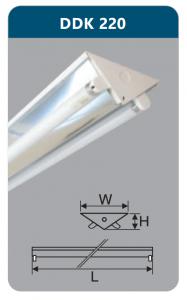 Đèn công nghiệp phản quang 2x9w DDK220
